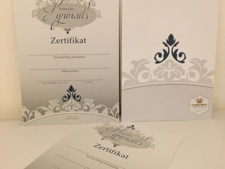 Lyninails Zertifikate