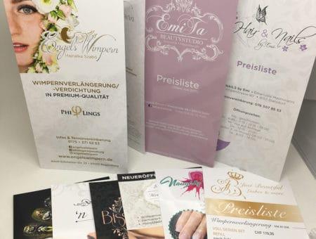 Flyer / Preislisten